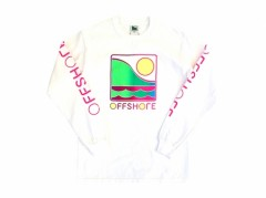 【OFF SHORE】Ladies GRADATION LOGO L/S TEE