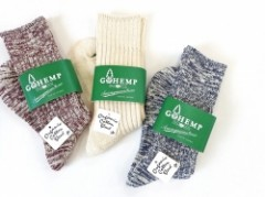 【GO HEMP】ORGANIC COTTON×HEMP PILE CREW SOCKS