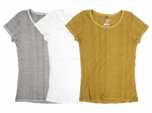 【Good On】Ladies RIB ROUND NECK TEE