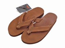 "Rainbow Sandals Classic Leather  Double Layer""Tan"""