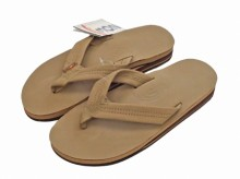 "Rainbow Sandals Double Layer""Sierra Brown"""