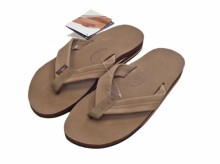 "Rainbow Sandals Double Layer""Dark Brown"""