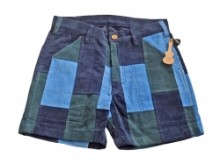 SUNLIGHT BELIEVER 70's CORDUROY PATCH WORK SHORTS