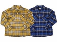 【GO WEST】FLEECE LINED HEAVY TWILL CHECK