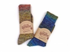 【GO HEMP】SPLASH PATTERN SOCKS