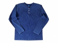 Good On L/S Henly Tee Indigo Shave