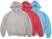 【Champion】GARMENT DYED HOODED SWEAT