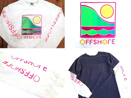 【OFF SHORE】GRADATION LOGO L/S TEE