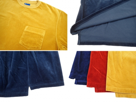 【Good on】S/S Velour Pocket Tee
