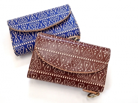 【GO WEST】SHORT WALLET (三つ折)/PAISLEY PRINT LEATHER