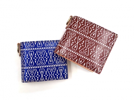【GO WEST】SHORT WALLET (二つ折)/PAISLEY PRINT LEATHER