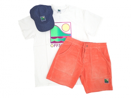 【OFF SHORE】GRADATION LOGO S/S TEE