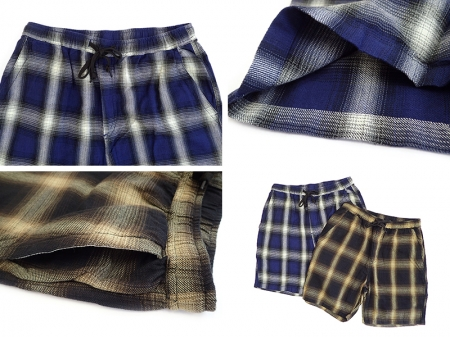 【FIVE BROTHER】LIGHT FLANNEL EASY SHORTS