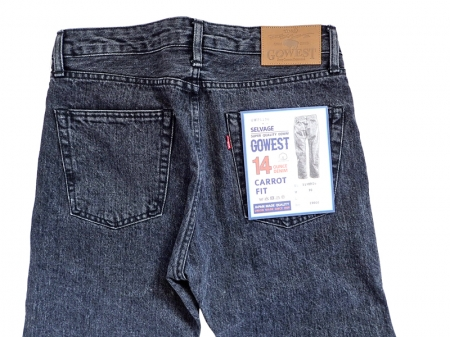 【GO WEST】CARROT FIT 5PK PANTS/USED WASH