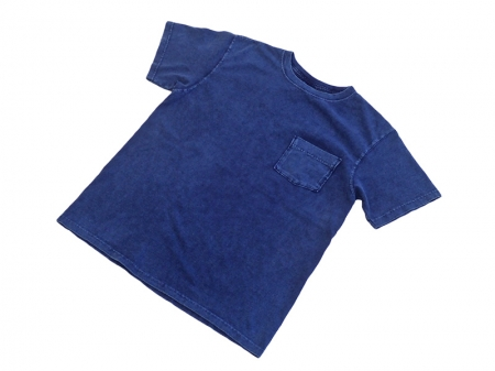 Good On S/S Crew Pocket Tee(Indigo Shave)