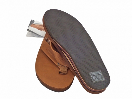 "Rainbow Sandal Classic Leather  Double Layer ""Tan"""