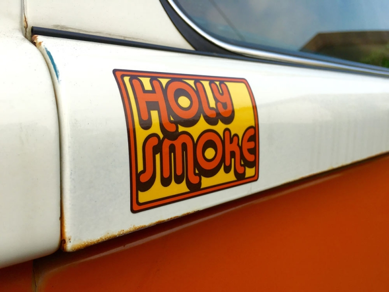 "HOLY SMOKE ""Retro Logo"" STICKER"