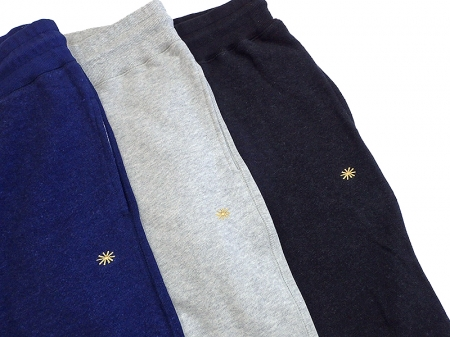 【GO HEMP】SLIM RIB SWEAT PANTS