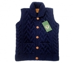 CANADIAN SWEATER Wood ButtonVest