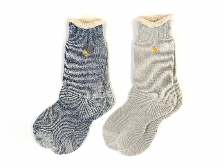 【GO HEMP】LOW GAUGE PILE CREW SOCKS