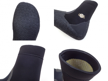 Surf Grip Q.W.R. BOOTIES-Ⅲ Round Toe 5/6mm