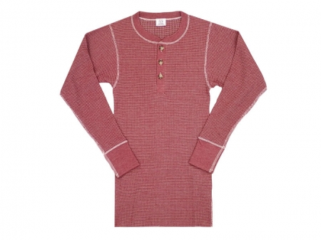 "JE MORGAN L/S Henry Thermal T-Shirts ""One Sidedye"""