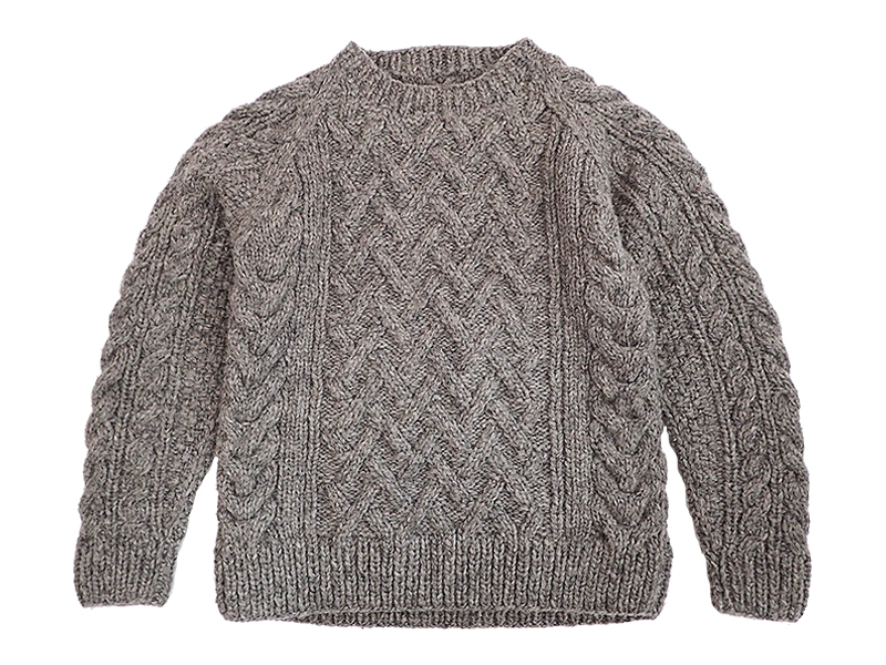 CANADIAN SWEATER Crew Neck Sweater(Gray)